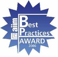 Winner of the AIIM 2006 Best Practices Award